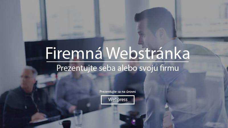 Firemná web stránka